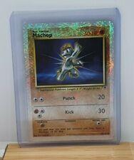 Machop Reverse Holo Shiny Pokemon Card Legendary Collection 79/110 Moderate Play