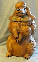 Vintage 1950's Sierra Vista Ceramic Pottery Poodle Cookie Jar With Label