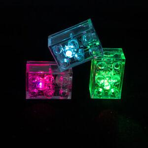 💛LEGO TECHNIC AXLE + CUSTOM MULTI CHANGING LED 2X3 LIGHT BRICK NEW💜