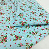 Polka Dots Prints Vintage Pattern Floral Fabric Cotton Like Printed Quilting Sew