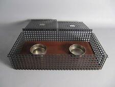 60s Stövchen rechaud agujero chapa teca diseño industrial-warmer-chauffage