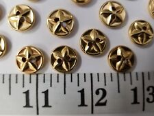 New listing Vintage Buttons Set Of 12 Metal Gold Tuz212