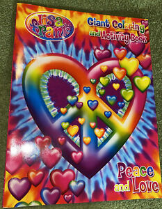 Lisa Frank Peace And Love Giant Coloring Activity And Book
