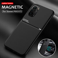 For Xiaomi POCO F3 Shockproof Magnetic Soft Silicone Case PU Leather Back Cover