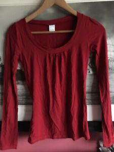 Camaieu French Designer Red Long Sleeved Shirt Size S