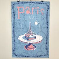 Torchons & Bouchons Eiffle Tower Pastry Printed Kitchen Tea Towel Made in France