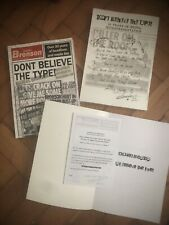 More details for charles bronson 'don't believe the type' signed news cuttings book autographed