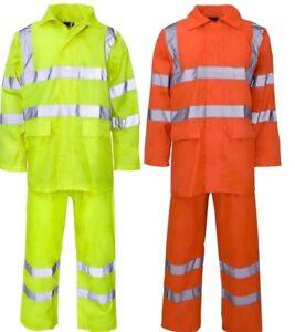 Waterproof 2 Piece Wetsuits / Rain Suit - Hi Viz Vis or Plain - Free Delivery UK