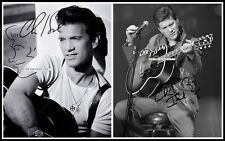 Chris Isaak, Autographed, Cotton Canvas Image. Limited Edition (CI-401)