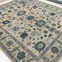 8x10 Oushak Handknotted Rug Fine Wool /Mauve/Gray/Ivory/Color 1/2'