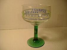 2007 STOCKTON  CA. - ASPARAGUS FESTIVAL COLLECTORS MARGARITA GLASS - GREEN STEM
