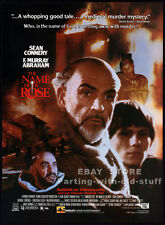 THE NAME OF THE ROSE__Original 1987 video Print AD movie promo__SEAN CONNERY