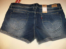 LEVI EXPRESS YOUR STYLE ROLLED UP CUFF CUT OFF SHORT SHORTS JR SZ 17 NWT