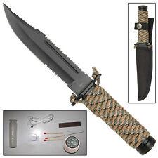 Mini Hunter Paracord Outdoor Survival Knife Digital Camo Handle FREE Sheath