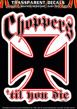CHOPPERS BIKER  DECAL WITH BONUS MINI DECAL