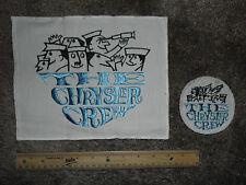 RARE Vintage The Chrysler Crew Sew on Uniform Cloth Patch Marine Boat HUGE