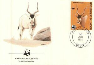 (52292) Niger WWF FDC Addax Antelope 1985