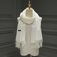 Women's Oversized Cashmere Wool Solid Pashmina Scarf Wraps Warm Blanket Scarves*