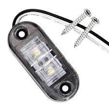 White LED Side Marker Light Clearance Tail Warning Lamp 12VFor Car Truck Trailer