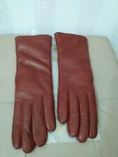 VINTAGE WOMEN'S LEATHER AND CACHEMIRE GLOVES MADE IN ITALY GUANTI IN PELLE DONNA