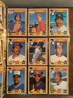 1987 Topps Baseball Cards Complete Set with Bonds Error Rookie Card