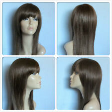 high heat resistant hair long fringe ladies' wigs lady women's daily full wig UK