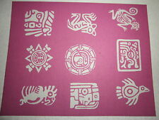 "PHOTO EZ SILK SCREEN 4"" X 5""  POLYMER CLAY - MAYAN & AZTEC SYMBOLS  - SHIPS FREE"
