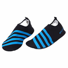 New BLUE Striped MYLEYON Slip On Aqua Beach Unisex Shoes Size UK 9 - 10.5