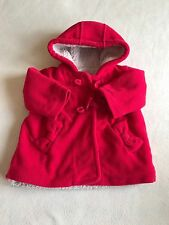 Baby Girls Clothes 3-6 Months - Cute Red Fleece Lined Coat Jacket