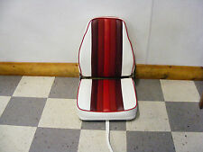 Highback Deluxe Fold-Down Seat (White w/ Reds)