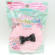 Daiso Cute Bow Fairy Ribbon False Eyelash Protect Shape Case Container Pink Box