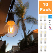 LED Replacement Outdoor String Light Bulbs, A19 E26 7W - 60W Equivalent, 10 Pack