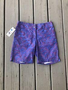 New Womens Size 0 Adidas Golf Shorts Printed