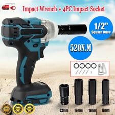 18V 520Nm Cordless Impact Wrench Rattle Gun 4PC Impact Socket For Makita Battery