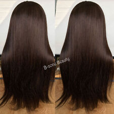 LMJF382 new design long dark brown bangs fashion straight health hair wigs wig