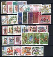 Großbritannien 1978-82 Postfrisch 100% Kronen, Schmetterlinge, Zirkus, Weihnach