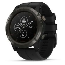 Garmin fenix 5X Plus Sapphire Carbon Gray GPS Watch With Black Band 010-01989-0A