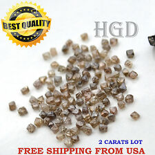 100% NATURAL Loose Rough Diamonds RARE OCTAHEDRON Crystal Brown raw 2.20mm 2crts