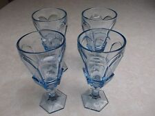 "GL036-1&2 SET OF 4 VIRGINIA LIGHT BLUE By FOSTORIA 6"" WINE GLASSES NIB"