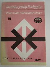 POLAND Employee International Train Timetable 1988-89 Rozkład jazdy pociągów PKP