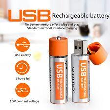 2PCS SORBO 1200mAh USB Rechargeable 1 Hour Quick Charging AA Li-po Battery GA