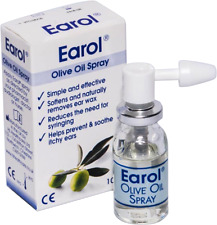 Earol Olive Oil Blocked Ear Spray 10ml - Softens & Removes Ear Wax - Itchy Ears