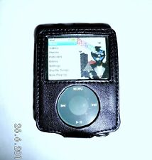 Black Faux Leather case with Belt clip for ipod nano 3rd gen 4-8 GB