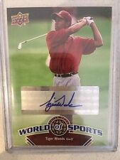 Tiger Woods 2010 Upper Deck World Of Sports SP Card AUTO  # 302 SUPER RARE SP