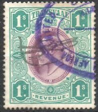 Transvaal/Cape of Good Hope KEVII 1 Shilling Revenue used stamp FU