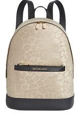 Michael Michael Kors Leopard  Nylon Backpack in Truffle/Gold