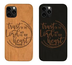 Trust In The Lord Iphone 11 Pro Max 5 6 7 8 Plus X XS XMAX XR Wood Case