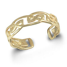 9ct Solid Gold Adjustable Celtic Band Toe Ring