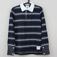 BROOKS BROTHERS x THOM BROWNE Black Fleece New Polo Shirt Mens BB1 Small R155