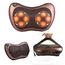 Heat Massage Car Home Pillow Shiatsu Deep Kneading Massager Neck Shoulder Relax